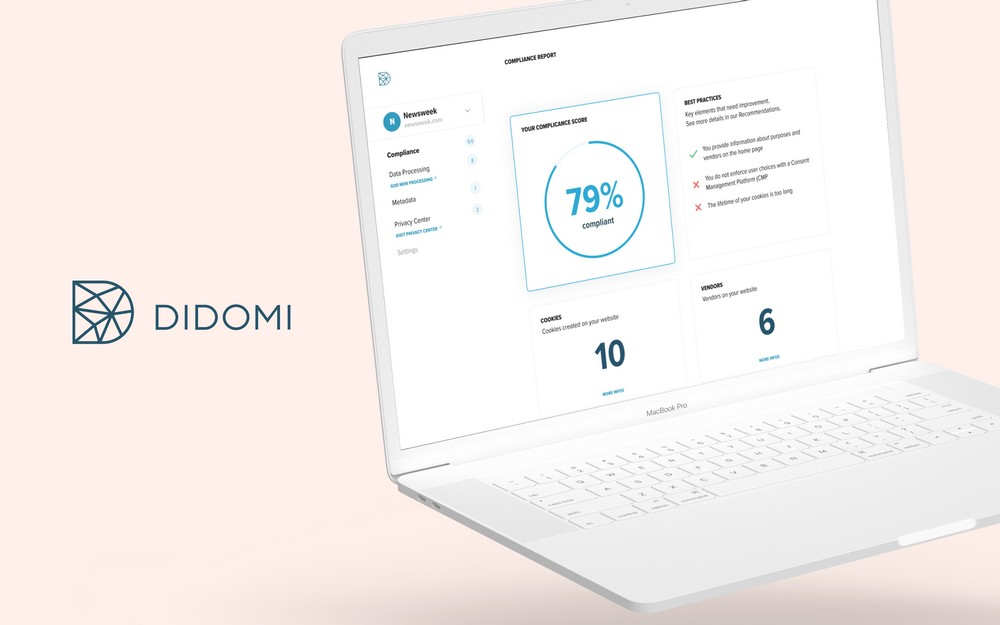 """Didomi's Console allows you to get a """"Compliance Score"""" based on your website's cookie usage"""