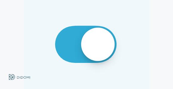 bouton de style iphone indiquant que l'utilisateur a opté pour quelque chose