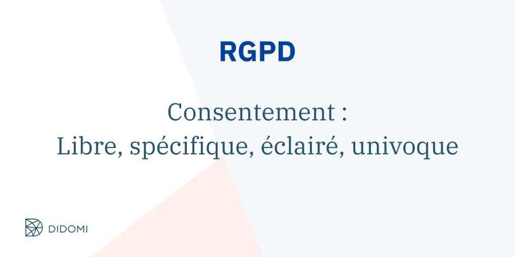 recommendations CNIL et RGPD explication du consentement